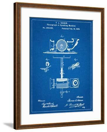 Thomas Edison Speaking Telegraph Patent--Framed Art Print