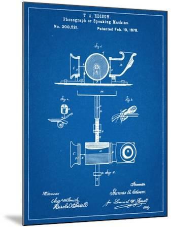 Thomas Edison Speaking Telegraph Patent--Mounted Art Print
