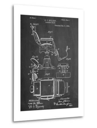 Barber's Chair Patent--Metal Print