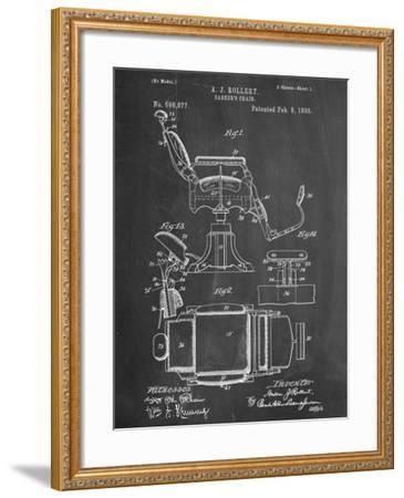 Barber's Chair Patent--Framed Art Print