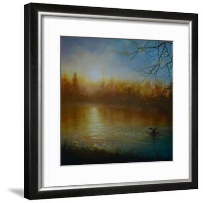 Thames Sunrise, 2004-Lee Campbell-Framed Giclee Print