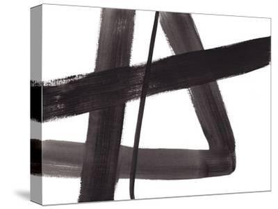 Black and White Abstract Painting 5-Jaime Derringer-Stretched Canvas Print