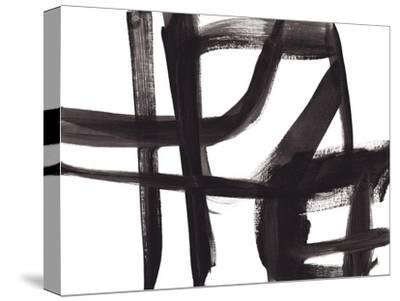 Black and White Abstract Painting 2-Jaime Derringer-Stretched Canvas Print