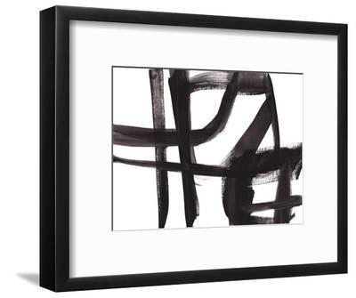 Black and White Abstract Painting 2-Jaime Derringer-Framed Giclee Print