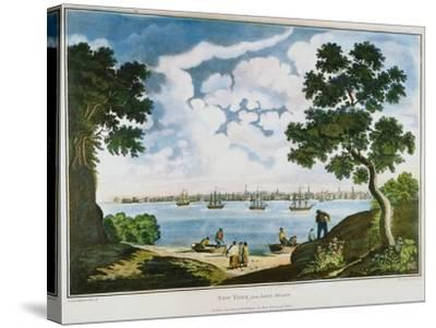 View of New York, 1801--Stretched Canvas Print