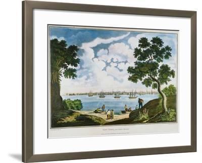 View of New York, 1801--Framed Giclee Print