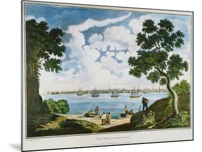 View of New York, 1801--Mounted Giclee Print