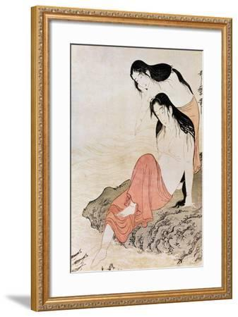 Japan: Abalone Divers-Kitagawa Utamaro-Framed Giclee Print