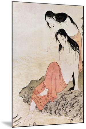 Japan: Abalone Divers-Kitagawa Utamaro-Mounted Giclee Print