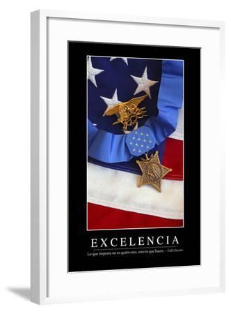 Excelencia. Cita Inspiradora Y Póster Motivacional--Framed Photographic Print