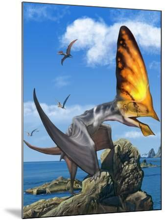 Tupandactylus Perched on a Rock During the Early Cretaceous Period--Mounted Art Print