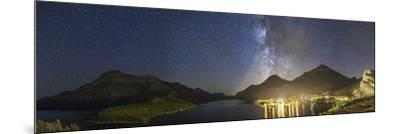 Panorama of Waterton Lakes National Park Overlooking the Townsite--Mounted Photographic Print