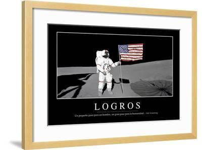Logros. Cita Inspiradora Y Póster Motivacional--Framed Photographic Print