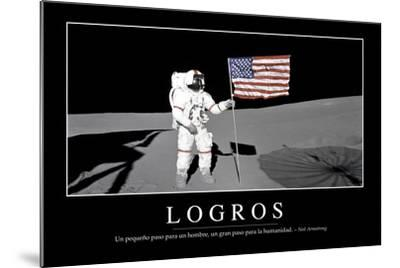 Logros. Cita Inspiradora Y Póster Motivacional--Mounted Photographic Print