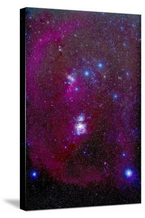 The Orion Nebula, Belt of Orion, Sword of Orion and Nebulosity--Stretched Canvas Print