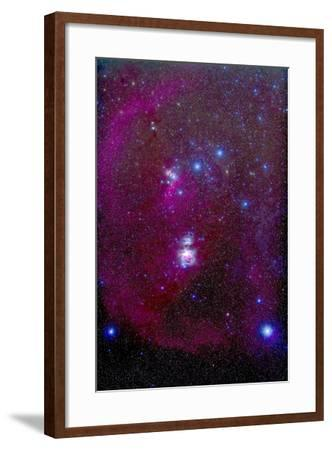 The Orion Nebula, Belt of Orion, Sword of Orion and Nebulosity--Framed Photographic Print