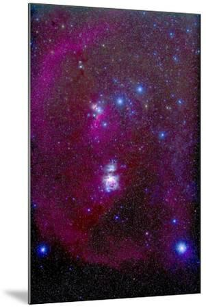 The Orion Nebula, Belt of Orion, Sword of Orion and Nebulosity--Mounted Photographic Print