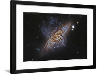 Ngc 3314, a Pair of Overlapping Spiral Galaxies--Framed Photographic Print