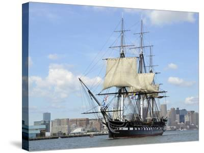 USS Constitution in the Boston Harbor--Stretched Canvas Print