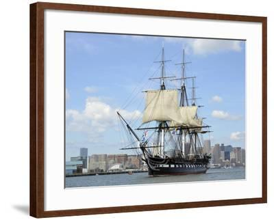 USS Constitution in the Boston Harbor--Framed Photographic Print