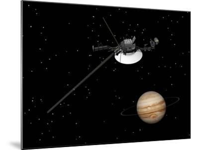 Voyager Spacecraft Near Jupiter and its Unrecognized Ring--Mounted Art Print