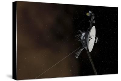 Voyager 1 Spacecraft Entering Interstellar Space--Stretched Canvas Print