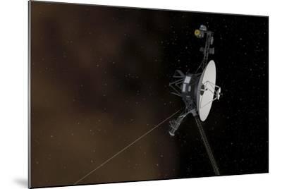 Voyager 1 Spacecraft Entering Interstellar Space--Mounted Art Print