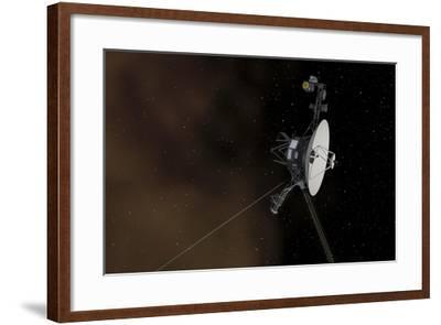 Voyager 1 Spacecraft Entering Interstellar Space--Framed Art Print