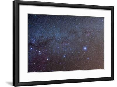 The Constellation of Canis Major with Nearby Deep Sky Objects--Framed Photographic Print