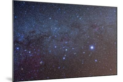 The Constellation of Canis Major with Nearby Deep Sky Objects--Mounted Photographic Print