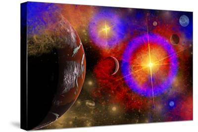 A Colorful Section of Alien Space in Our Galaxy--Stretched Canvas Print