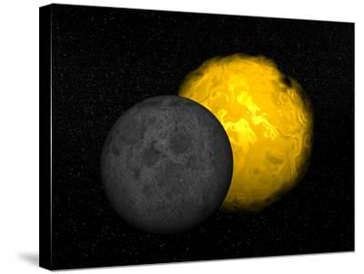 Partial Eclipse of the Sun--Stretched Canvas Print