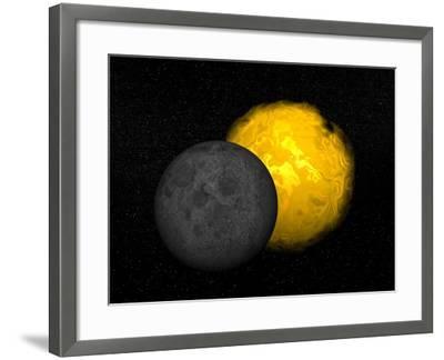 Partial Eclipse of the Sun--Framed Art Print