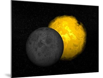 Partial Eclipse of the Sun--Mounted Art Print