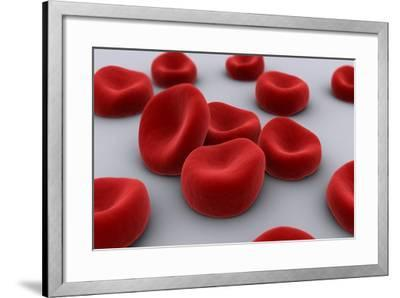Conceptual Image of Red Blood Cells--Framed Art Print