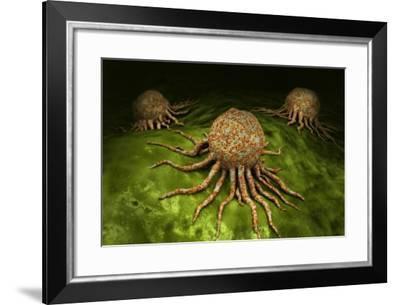 Microscopic View of Cancer Virus--Framed Art Print