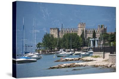 The Castle at Torre Del Benaco, Lake Garda, Italian Lakes, Veneto, Italy, Europe-James Emmerson-Stretched Canvas Print