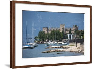 The Castle at Torre Del Benaco, Lake Garda, Italian Lakes, Veneto, Italy, Europe-James Emmerson-Framed Photographic Print