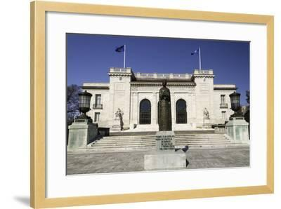 Statue of Queen Isabella of Spain Outside the Headquarters of the Organization of American States-John Woodworth-Framed Photographic Print