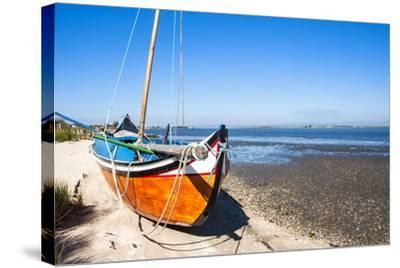 Colorful Boats on the Beach, Torreira, Aveiro, Beira, Portugal, Europe-G and M Therin-Weise-Stretched Canvas Print