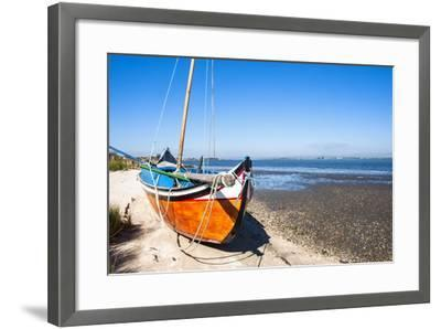 Colorful Boats on the Beach, Torreira, Aveiro, Beira, Portugal, Europe-G and M Therin-Weise-Framed Photographic Print