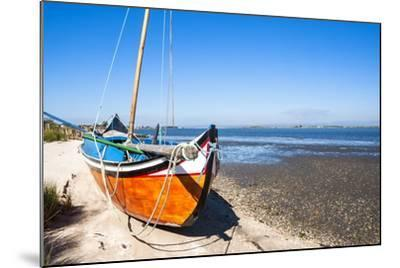 Colorful Boats on the Beach, Torreira, Aveiro, Beira, Portugal, Europe-G and M Therin-Weise-Mounted Photographic Print