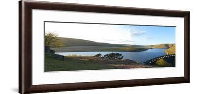 A Panoramic View of Craig Goch Reservoir-Graham Lawrence-Framed Photographic Print