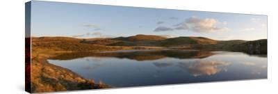 A Panoramic View of Pant Y Llyn Lake, Epynt, Powys, Wales, United Kingdom, Europe-Graham Lawrence-Stretched Canvas Print