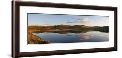 A Panoramic View of Pant Y Llyn Lake, Epynt, Powys, Wales, United Kingdom, Europe-Graham Lawrence-Framed Photographic Print