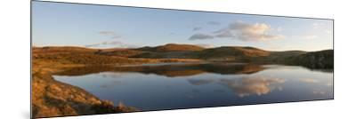 A Panoramic View of Pant Y Llyn Lake, Epynt, Powys, Wales, United Kingdom, Europe-Graham Lawrence-Mounted Photographic Print