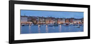 Panoramic Image of the Waterfront and Harbour-Markus Lange-Framed Photographic Print