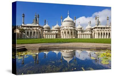 Brighton Royal Pavilion with Reflection, Brighton, East Sussex, England, United Kingdom, Europe-Neale Clark-Stretched Canvas Print