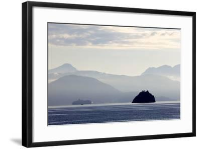 A Hurtigruten Cruise Boat in the Fjords of Norway, Scandinavia, Europe-Olivier Goujon-Framed Photographic Print