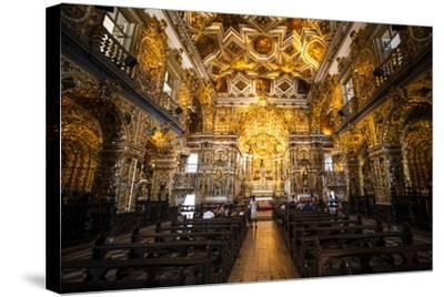 Interior of the Saint Francisco Church in the Pelourinho-Michael Runkel-Stretched Canvas Print